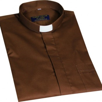 Chocolate Short Sleeve Clerical Shirt