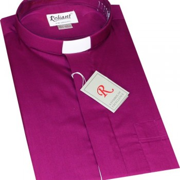 Roman Purple Clerical Shirt