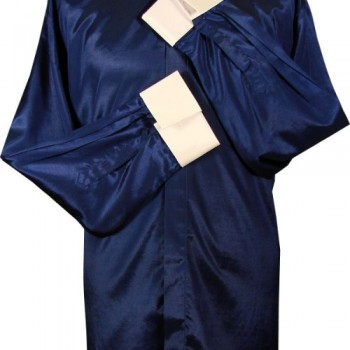 Navy Blue Thai Silk Clerical Shirt